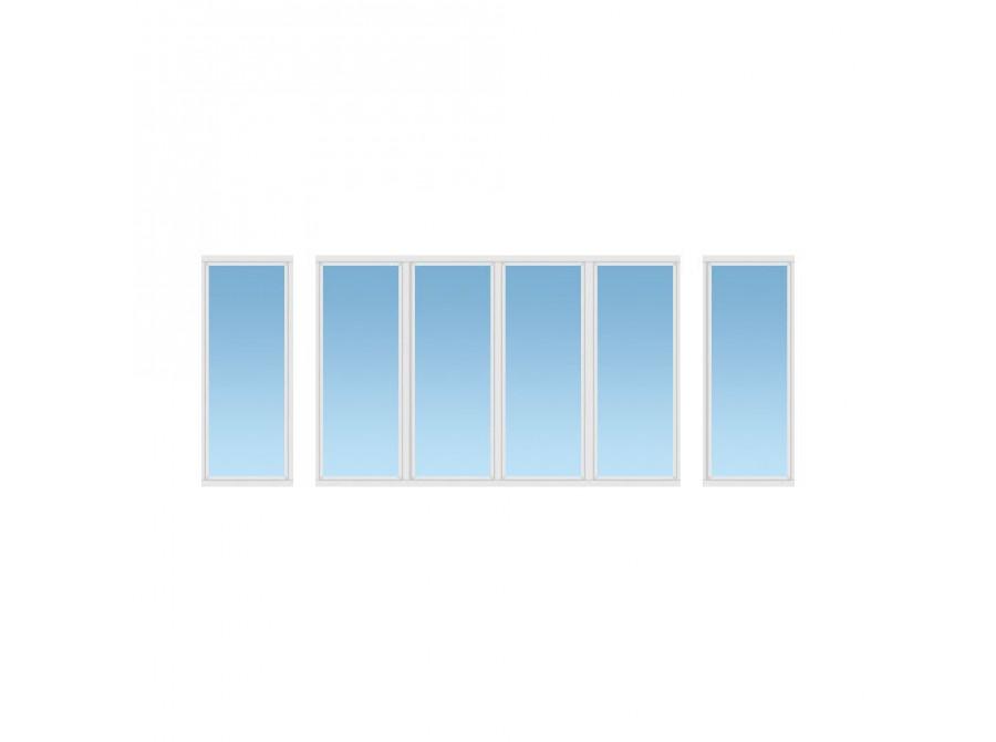 Алюминиевый балкон №04