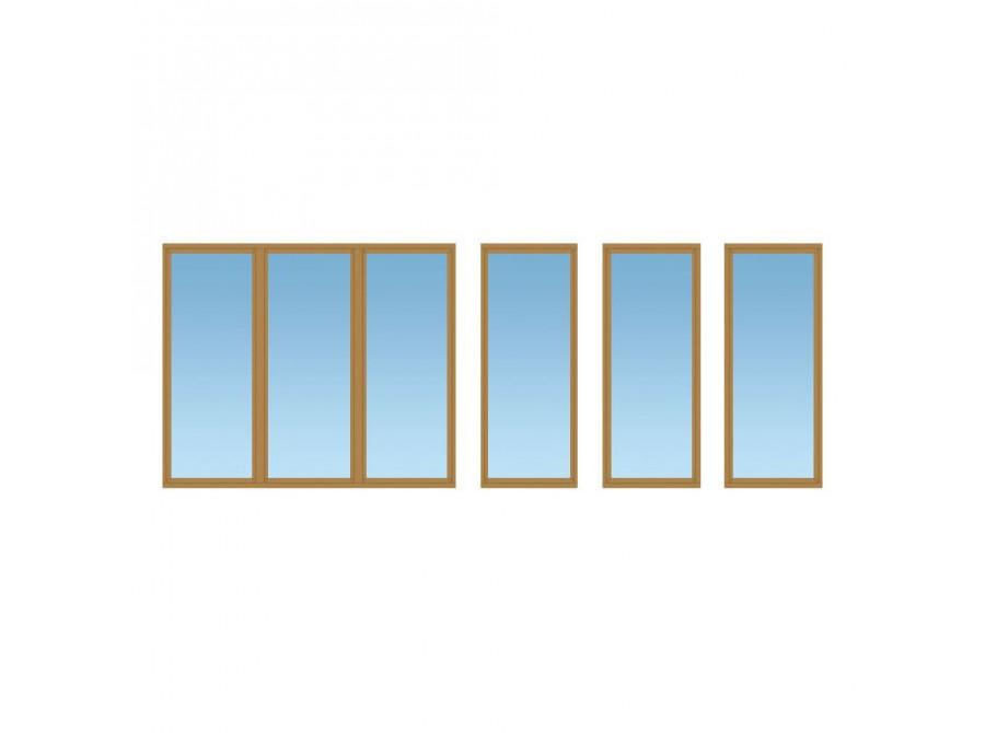 Коричневое окно на балкон №07