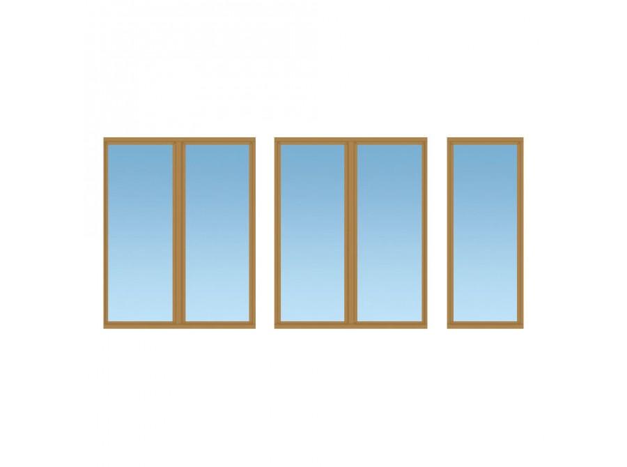 Цветное окно для балкона №05