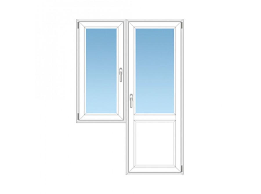 Балконный блок ПВХ №01