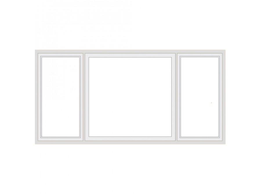 Офисная стеклянная перегородка №01