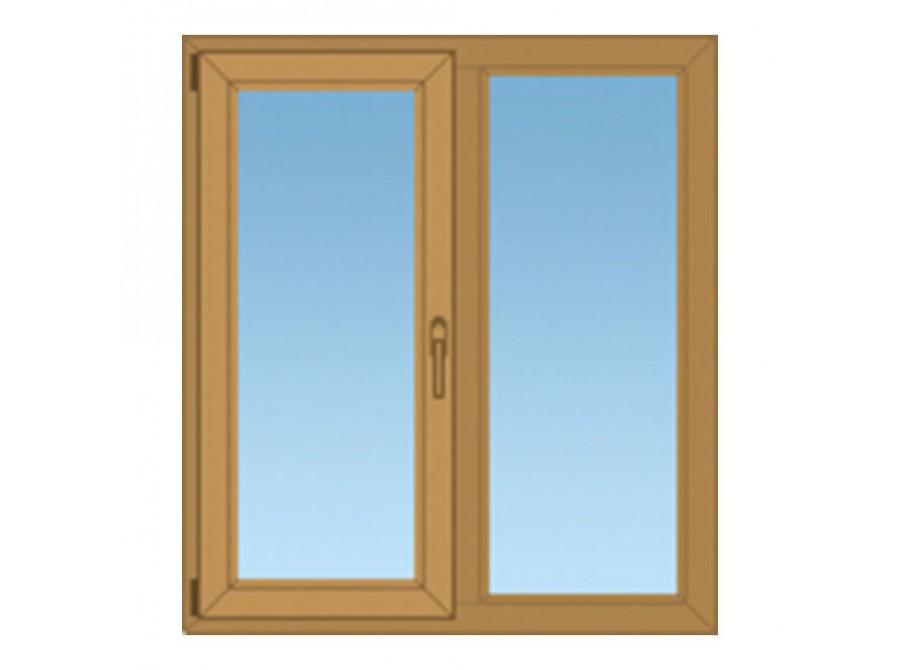 Окно ПВХ коричневое №06