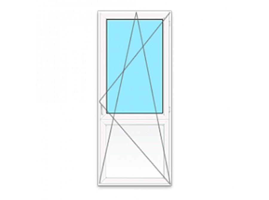 Пластиковая дверь ПВХ на балкон №03